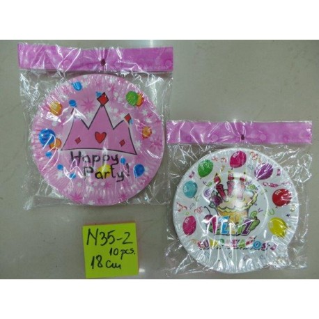 N58-10 FARFURII PARTY 18 CM SET 6 BUC